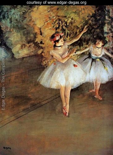Edgar Degas - Two dancers on a stage c.1874