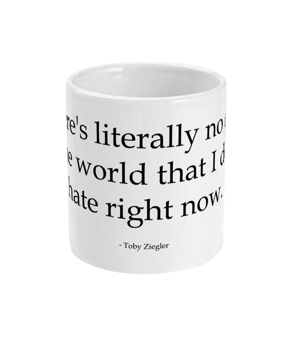 West Wing Toby Hates Mug